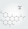 abstract chemical pattern with hexagon vector image vector image