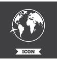 Airplane sign icon Travel trip symbol vector image