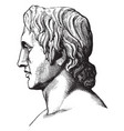 alexander the great vintage vector image vector image
