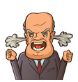 angry businessman shouting vector image