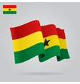 Background with waving Ghana Flag vector image vector image