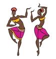 Beautiful asian dancer vector image vector image