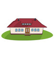 beautiful village house with red roof vector image