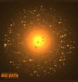 big data orange visualization vector image vector image