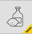 black line limoncello bottle icon isolated on vector image vector image