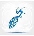 Blue sharp tribal tattoo vector image vector image