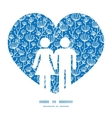 blue white lineart plants couple in love vector image