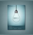 brochures book or flyer with a design hanging bulb vector image vector image