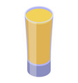 carambola juice glass icon isometric style vector image vector image