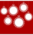 Christmas white balls vector image