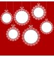 Christmas white balls vector image vector image