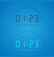 clock black and blue vector image vector image
