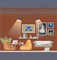 coworking open space cozy office interior design vector image vector image
