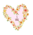 Declaration of love flowers in the shape vector image vector image