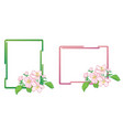 decorative frames with apple-tree flowers vector image