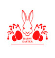 easter card with hare muzzle vector image