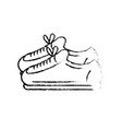 figure sneakers to practice exercise and train vector image vector image