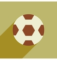 flat icon with long shadow soccer ball vector image vector image