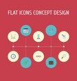 flat icons libra contract portfolio and other vector image vector image