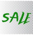 green grass sale text isolated white transparent vector image vector image