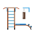Gymnastic ladder vector image