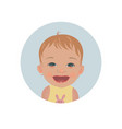 happy baby emoticon smiling child emoji vector image
