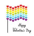 happy valentines day rainbow flag wave icon heart vector image vector image