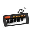 Isolated music note and piano design vector image
