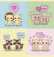 kawaii animals desing vector image vector image