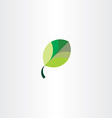 leaf icon green sign symbol vector image vector image