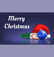 merry christmas concept banner realistic style vector image