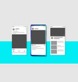 modern social media new feed post and home page vector image vector image