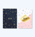 new year greeting card design with with golden vector image