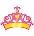 of purple princess crown vector image