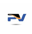 pV company linked letter logo vector image vector image