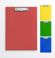 Realistic clipboards vector image vector image