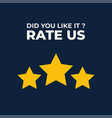 review us user rating concept and rate us vector image