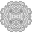 round mandala decorative floral element vector image vector image