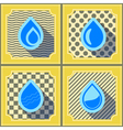 seamless background with water drops vector image vector image