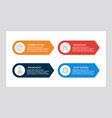 set blue and red orange elements vector image vector image