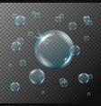 shampoo or soap foam bubbles on transparent vector image vector image