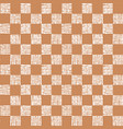 simple seamless pattern chess cells vector image