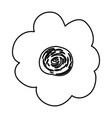 sketch contour of hand drawing flower vector image vector image