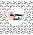 summer sale postcard vector image vector image