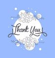 thank you card with handwritten inscription vector image vector image