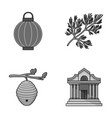 travel beekeeping and other monochrome icon in vector image vector image