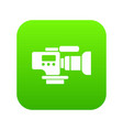 tv camera icon green vector image vector image