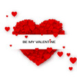 valentines greeting card with hearts by my vector image vector image