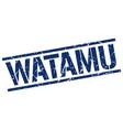 watamu blue square stamp vector image vector image