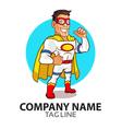 White Superhero Logo vector image vector image